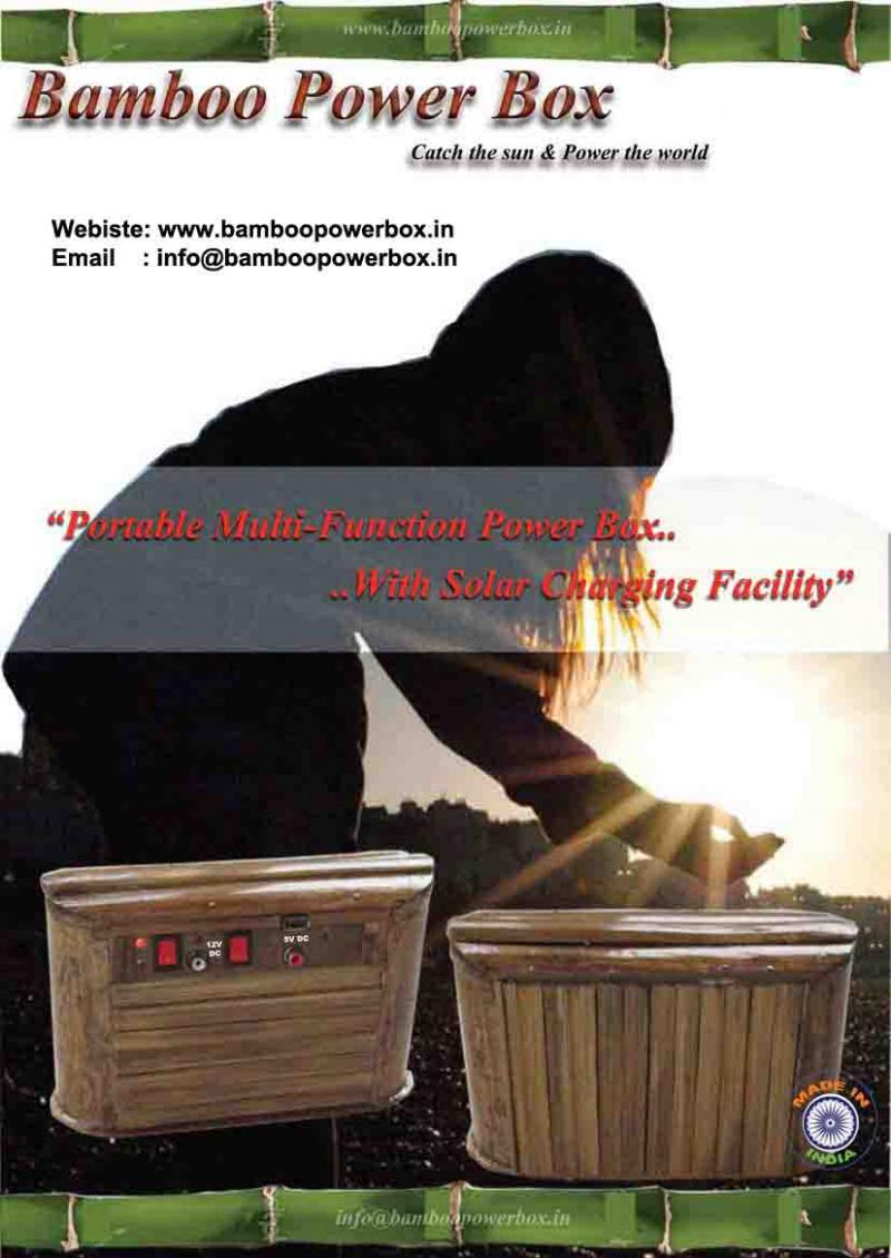 Bamboo Power Box-Portable Solar Power Generator
