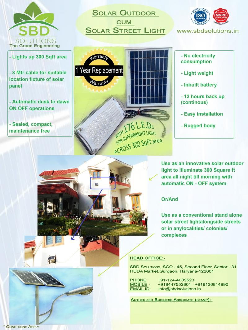 Solar Light for Street cum outdoor purpose
