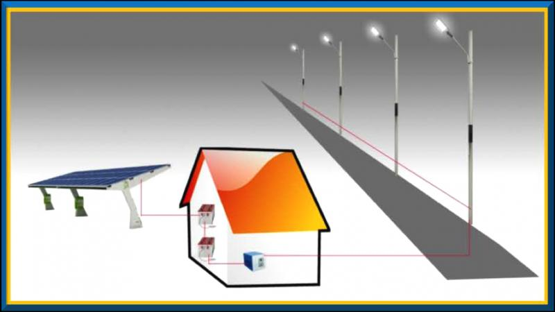 Centralized Solar street Lighting