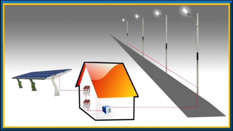 Centralized Solar street Lighting
