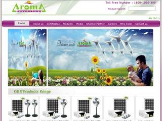 Solar water heaters,pumps,panels and other products from Aroma Renewable Energy,Rajkot