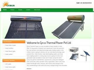 Solar Water heaters,inverters,street lights from Cyrus Thermal Power,Bangalore