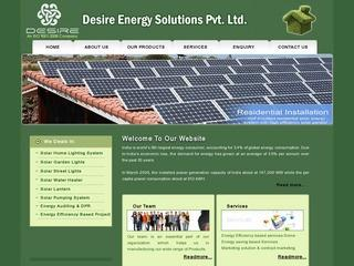 Energy audits,Detailed Project reporting,solar lighting and thermal Systems from Desire Energy,Jaipur