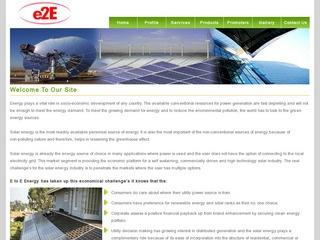 EPC contractors,off grid solar products,thin film panels from E to E Energy,Bangalore