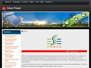 Non pressurized and integrated solar water heaters and accessories from Esse Power,Jaipur