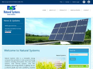Solar water heaters,power plants,inverters,lanterns from Natural Systems,