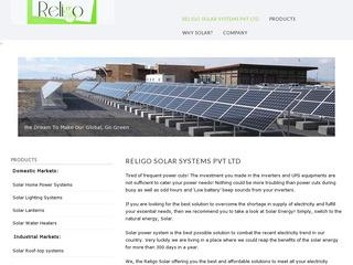 ReliGo Solar Power Systems for Homes, Schools & Colleges in Tamil Nadu, India