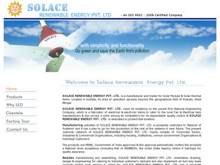 Solar Water heaters,caps,streetlights and other products from Solace,Kolkata