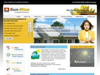 Solar thermal , photovoltaic and other off grid products from Sunwize,Lucknow