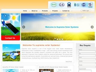 Solar Water heaters from Supreme Solar systems,Bangalore