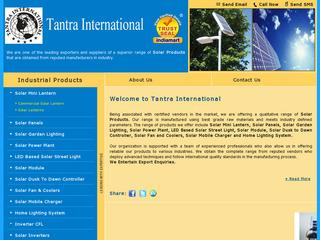 solar products from Tantra International