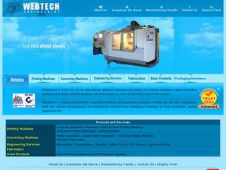 Solar water heaters,cookers,PV modules,power plants from Web Tech,Faridabad